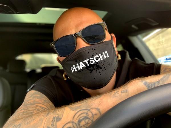 Nasen-Mund-Maske #HATSCHI, schwarz