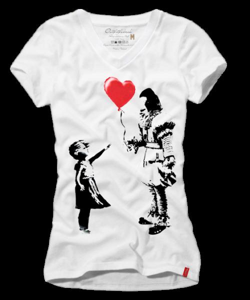 Girls-Shirt HERZBALLON, weiß