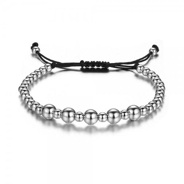 Armband - Perlen/silberfarben