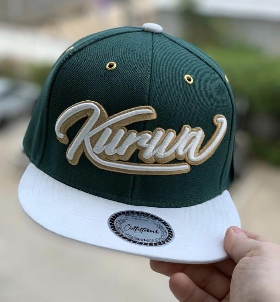 Snapback Cap KURWA, grün/weiß