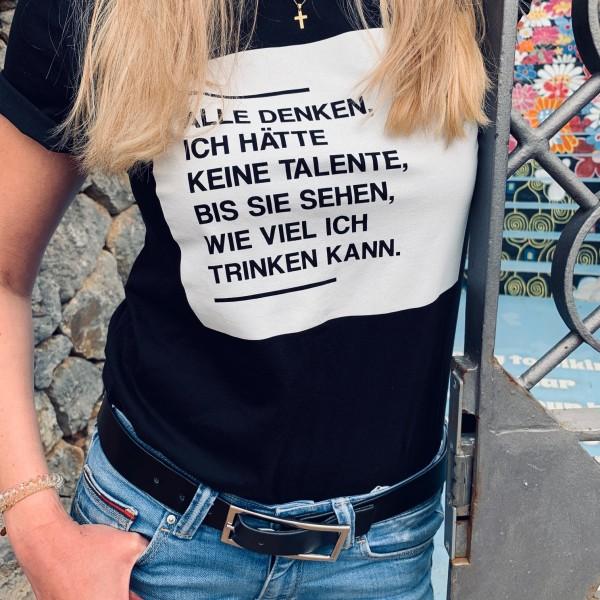 Shirt KEINE TALENTE, schwarz