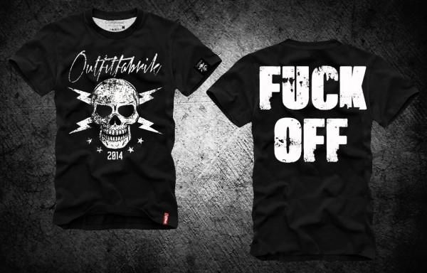 Shirt FUCK OFF, schwarz