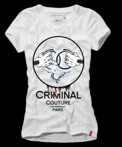 Girls-Shirt CRIMINAL COUTURE, weiß