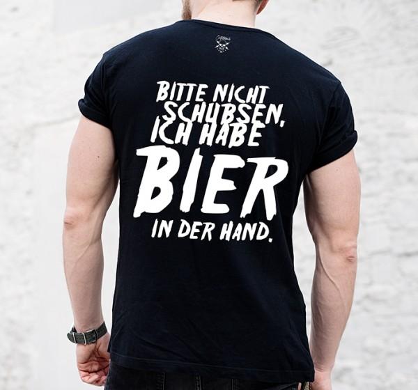 Shirt BIER IN DER HAND, schwarz