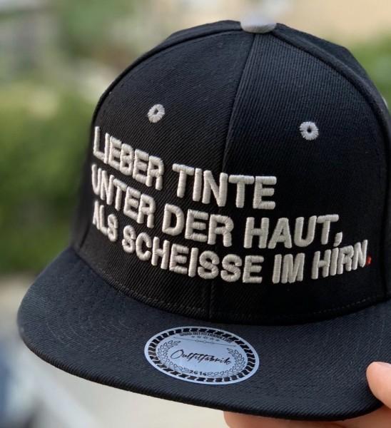Snapback Cap TINTE UNTER DER HAUT, schwarz