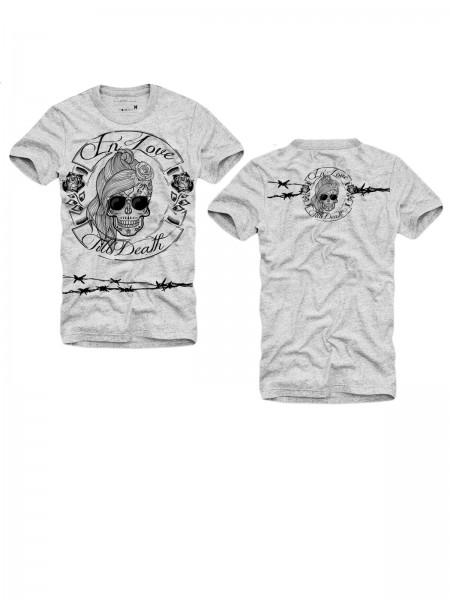 Shirt IN LOVE TILL DEATH - GIRL, grau melange