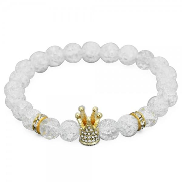 Armband - Krone/weiß