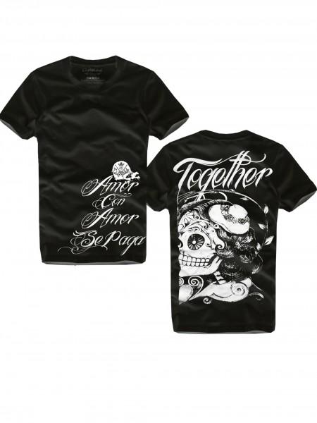 Shirt TOGETHER, schwarz