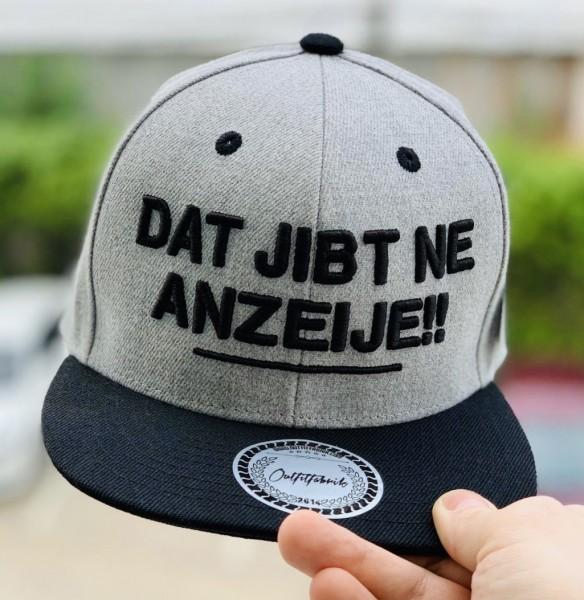 Snapback Cap DAT JIBT NE ANZEIJE, grau/schwarz