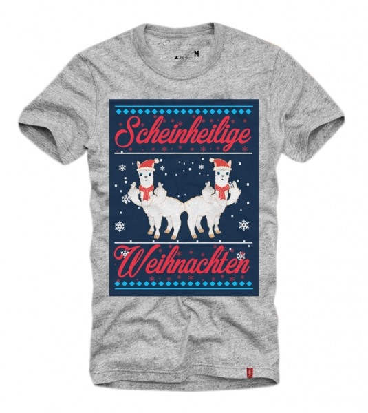 Shirt SCHEINHEILIGE WEIHNACHTEN (XMAS, Ugly Christmas), grau