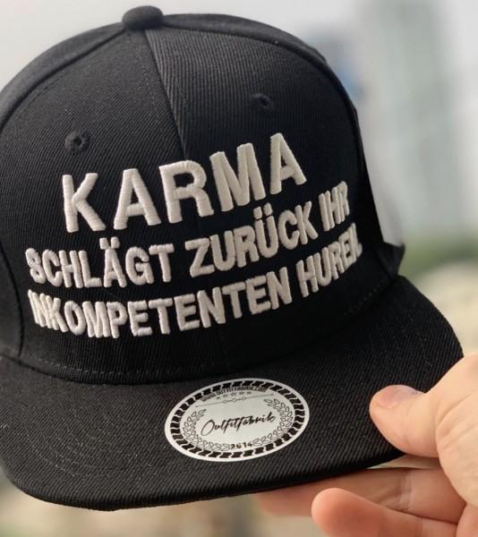 Snapback Cap KARMA, schwarz