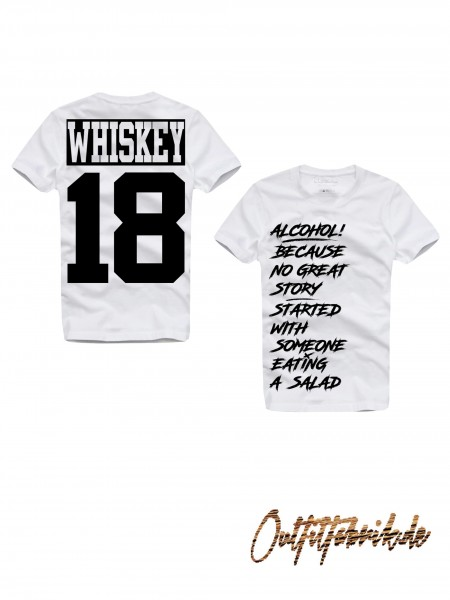 Shirt WHISKEY, weiß