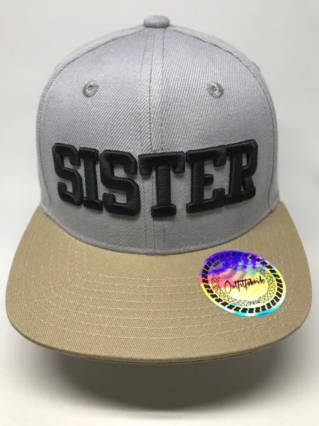 KIDS-Cap SISTER, grau/beige