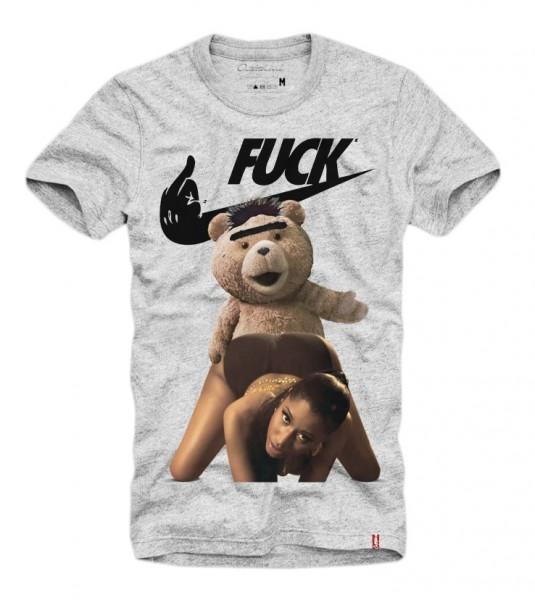 Shirt FUCKBÄR, grau