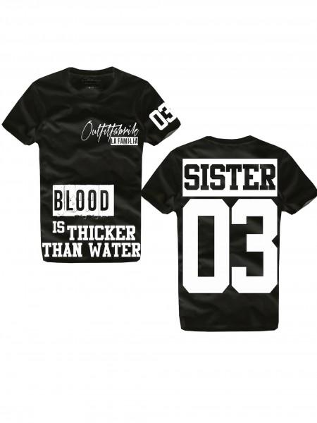 Shirt SISTER schwarz