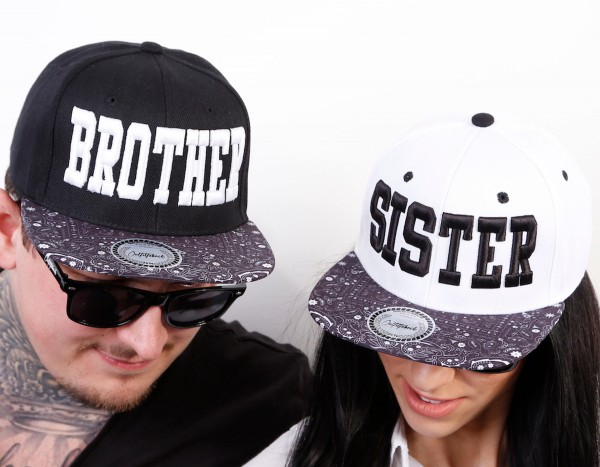Snapback Cap BROTHER oder SISTER, Paisley