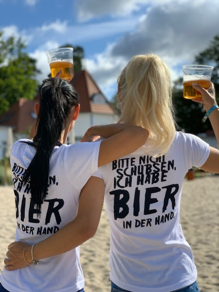 Girls-Shirt BIER IN DER HAND, weiß