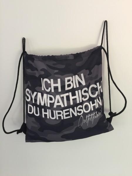 Sportbeutel/Rucksack HURENSOHN - camouflage