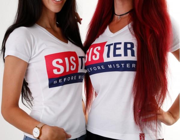 Girls-Shirt SISTER BEFORE MISTER