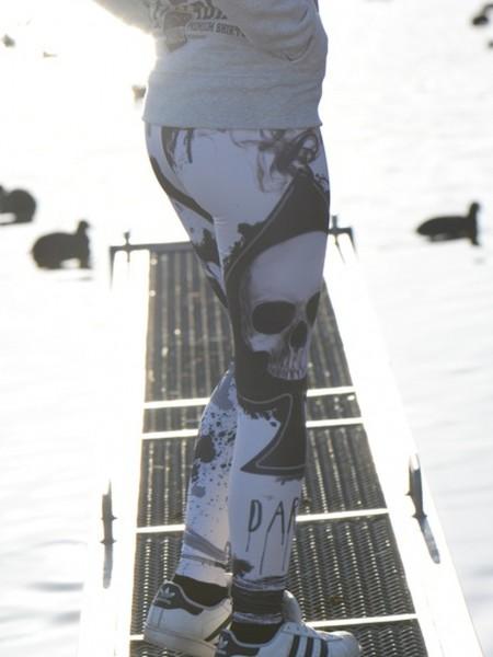 Leggings Outfitfabrik SKULL CARD