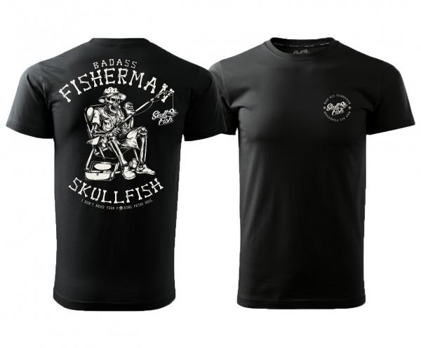 "Shirt ""Fisherman"" in schwarz"