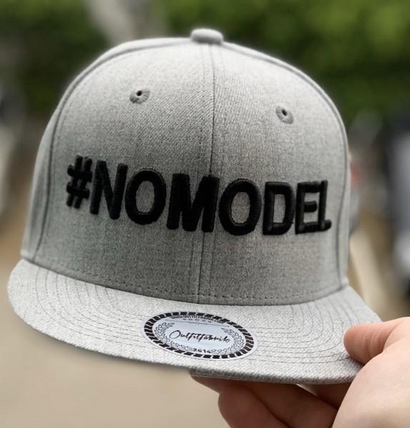 Snapback Cap #NOMODEL, grau