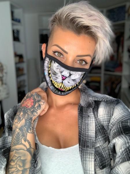 Nasen-Mund-Maske KATZE, schwarz