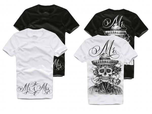 Shirt MR. / MISTER, weiß oder schwarz