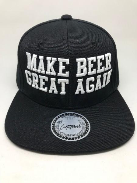Snapback Cap MAKE BEER GREAT AGAIN, schwarz