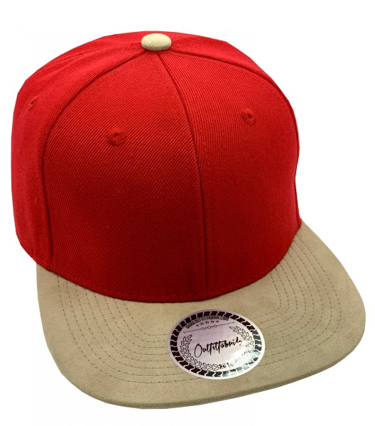 Cap BLANKO in rot/beige