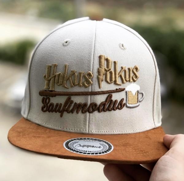 Snapback Cap HOKUS POKUS SAUFI MODUS, beige/braun