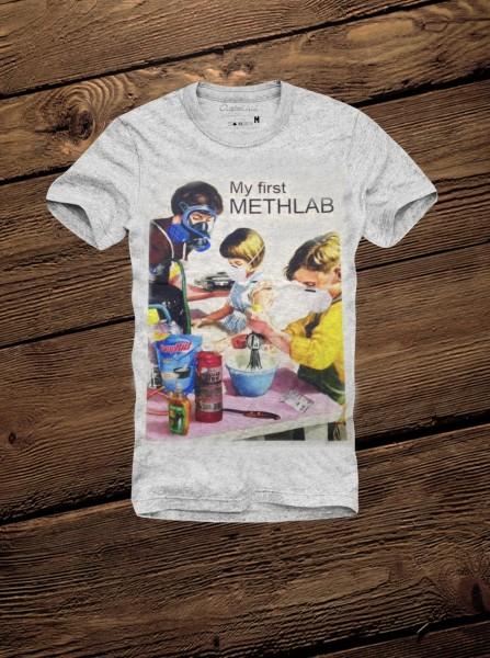 Shirt MY FIRST METHLAB, grau melange