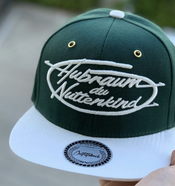 Snapback Cap HUBRAUM, grün/weiß