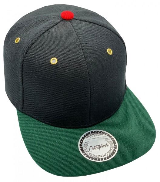 Cap BLANKO in schwarz/rot/grün