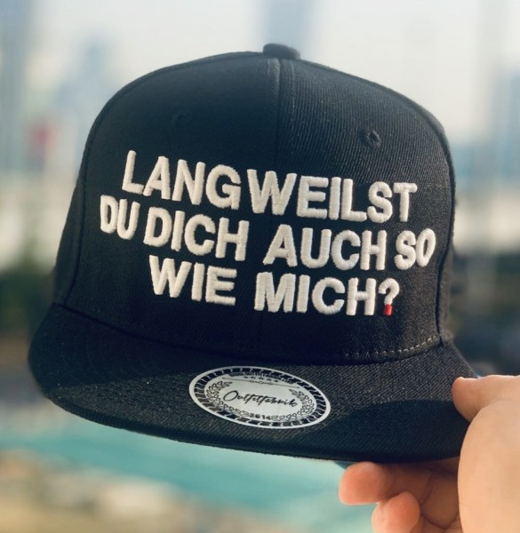 Cap LANGWEILST DU DICH AUCH SO WIE MICH?, schwarz