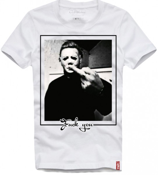 Shirt MICHAEL MYERS - FUCK YOU, weiß