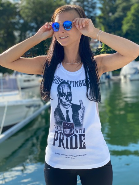 Tank Top Loose, MADE WITH PRIDE, weiß