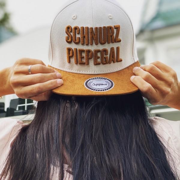 Snapback Cap SCHNURZ PIEP EGAL, beige/braun