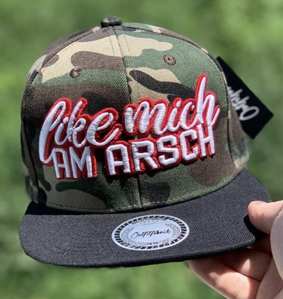 Snapback Cap LIKE MICH AM ARSCH, camouflage