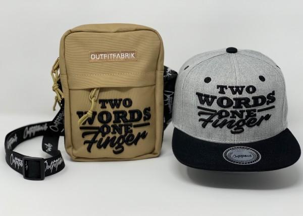 """SPAR-SET """"TWO WORDS 6"""", Cap + Bag"""
