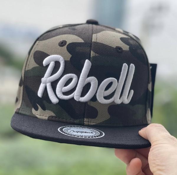 KIDS-Cap REBELL camouflage/schwarz