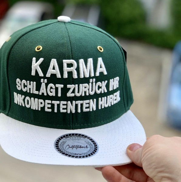 Snapback Cap KARMA, grün/weiss