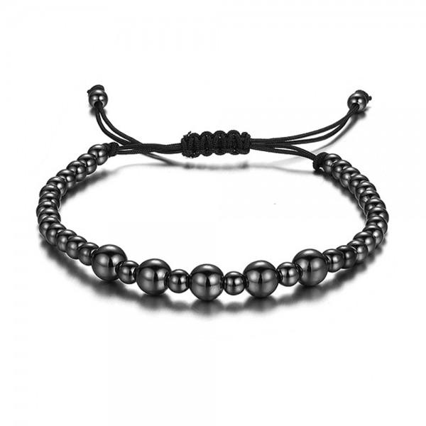 Armband - Perlen/schwarz