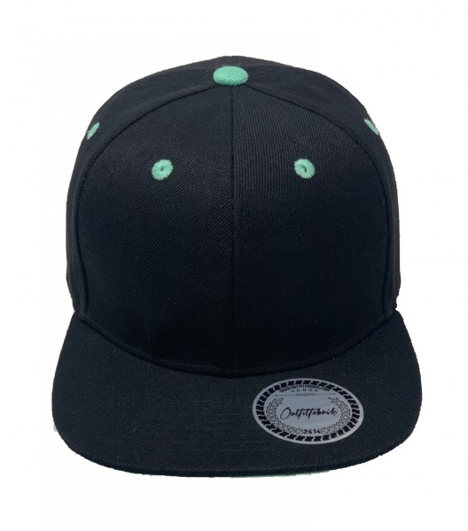 Cap BLANKO in schwarz/mint