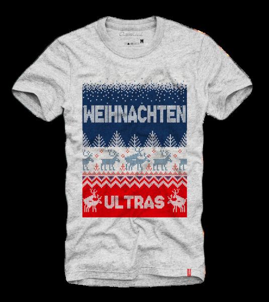 Shirt WEIHNACHTEN ULTRAS (RENTIERE), grau (Ugly Christmas, Xmas)