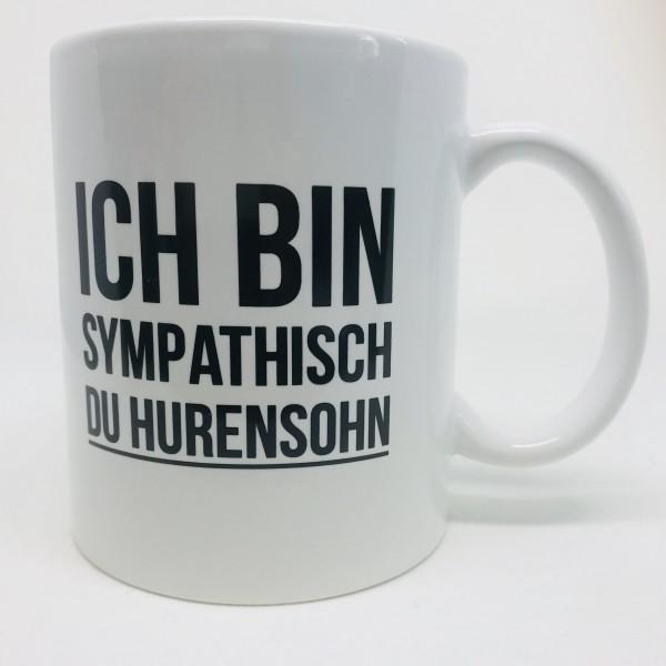 Tasse HURENSOHN, weiß
