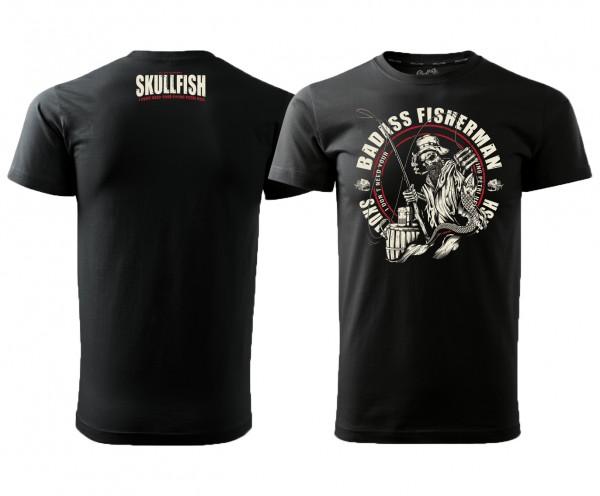 """Shirt """"Badass Fisherman"""" in schwarz"""