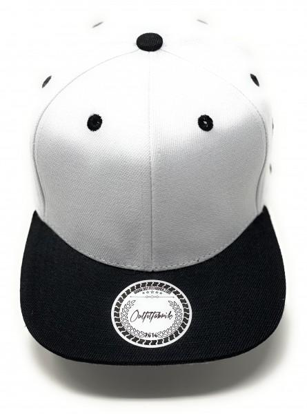 Cap BLANKO in weiß/schwarz