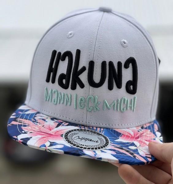 "Cap ""Hakuna Mannleckmich"", flower"