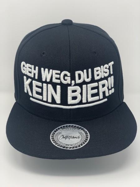 Snapback Cap GEH WEG DU BIST KEIN BIER, schwarz